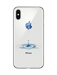 Para iPhone X iPhone 8 Case Tampa Transparente Estampada Capa Traseira Capinha Brincadeira Com Logo da Apple Macia PUT para Apple iPhone