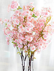 baratos -1 Ramo Poliéster Outras Flor de Mesa Flores artificiais