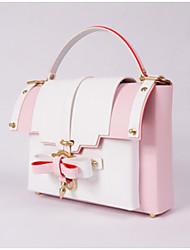 cheap -Women Bags PU Shoulder Bag Bow(s) Buttons Zipper for Casual All Season Almond Gray Blushing Pink