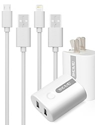 Cargador Portátil Cargador USB del teléfono Enchufe USA 2.1A AC 100V-240V