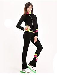 economico -Maglia da pattinaggio artistico Per donna Bambini Pattinaggio sul ghiaccio Pantalone/Sovrapantaloni Tuta da ginnastica Top Giallo Verde