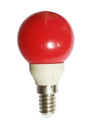cheap -1pc 0.5W 15-25lm E14 LED Globe Bulbs G45 7 LED Beads Dip LED Red 100-240V