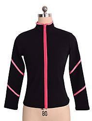 abordables -Vestes Polaires de Patinage Artistique Femme / Fille Patinage Hauts / Top Rose / Violet Spandex Elastique Utilisation / Exercice Tenue de