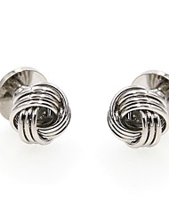 cheap -Circular Silver Cufflinks Stainless Steel Punk Fashion Party Gift Men's Costume Jewelry