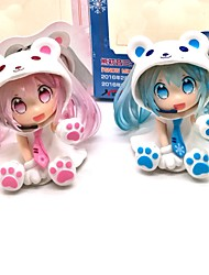 cheap -Anime Action Figures Inspired by Vocaloid Snow Miku PVC 7 CM Model Toys Doll Toy