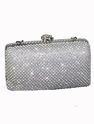 cheap -Women Bags Polyester Evening Bag 2 Pieces Purse Set Crystal Detailing for Wedding Event/Party All Season Silver