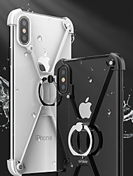 cheap -Case For Apple iPhone X iPhone 8 Shockproof with Stand Ring Holder Bumper Solid Color Hard Metal for iPhone X iPhone 8 Plus iPhone 8
