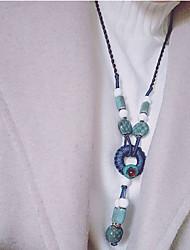 cheap -Women's Bohemian Pendant Necklace  -  Bohemian Fashion Ethnic Circle Dark Blue Necklace For Causal