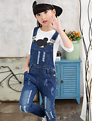 cheap -Girls' Jeans Overall & Jumpsuit, Rayon Spring Fall Simple Blue