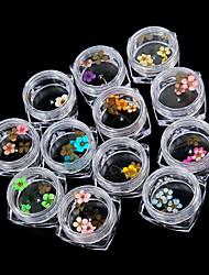 Недорогие -Пайетки С цветами Классика Высокое качество Повседневные Дизайн ногтей