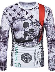 Majica s rukavima Muškarci - Aktivan Jednobojni Prugasti uzorak Print