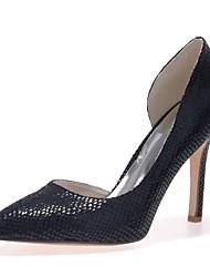 preiswerte -Damen Schuhe Kunstleder Frühling Sommer Pumps High Heels Stöckelabsatz Spitze Zehe für Kleid Party & Festivität Schwarz Fuchsia
