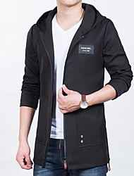 cheap -Men's Casual/Daily Simple Winter Parka,Solid Shirt Collar Long Sleeves Regular Others