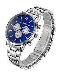 abordables -Hombre Reloj de Pulsera Chino Reloj Casual Acero Inoxidable Banda Moda / Minimalista Plata