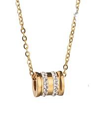 economico -Per donna A tubo Vintage Essenziale Collane con ciondolo Strass Acciaio inossidabile Collane con ciondolo , Quotidiano