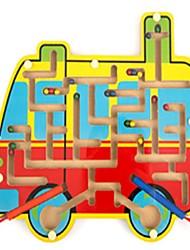 cheap -Maze Magnetic Maze Bus School / Graduation School Magnetic Wood Bus Kid's Gift
