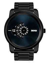 Недорогие -SKMEI Муж. Кварцевый Спортивные часы Японский Календарь Защита от влаги Крупный циферблат Повседневные часы сплав Группа Роскошь На