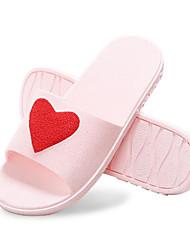 economico -Da donna Scarpe PVC Primavera Estate Comoda Pantofole e infradito Ballerina Punta tonda per Casual Viola Blu Rosa