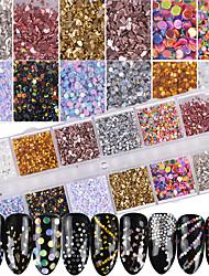 economico -1set Glamour Bling Bling Glitter per unghie Con lustrini Polvere di glitter Glitter per unghie Come nell'immagine Nail Art Design