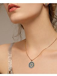cheap -Women's Pendant Necklace - Ethnic, Fashion Light Blue Necklace One-piece Suit For Daily, Going out