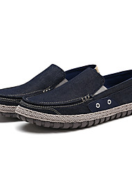 cheap -Men's Shoes Canvas Spring Fall Comfort Moccasin Loafers & Slip-Ons for Casual Party & Evening Light Grey Blue