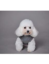 preiswerte -Hund Pullover Weste Hundekleidung Freizeit Tier nette Art Gestreift Jacquard Tier Blau Rosa Kostüm Für Haustiere