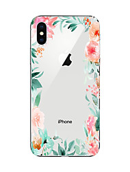 billige -Etui Til Apple iPhone X iPhone 8 Plus iPhone 7 iPhone 7 Plus iPhone 6 Mønster Bagcover Blomst Blødt TPU for iPhone X iPhone 8 Plus iPhone
