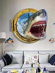 economico -3d adesivi murali camera da letto decorazione adesivi murali carta da parati squalo mare
