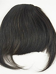 cheap -Black Medium Brown Bangs Fringe Thick 0.25kg Remy Hair Piece Hair Extension Thick