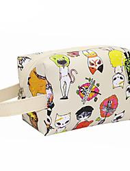 cheap -PU Character Cosmetic Bag Zipper for Casual All Seasons Black Beige Dark Blue Pink Dark Red