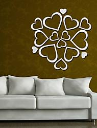 Недорогие -Зеркала Геометрия Наклейки 3D наклейки Зеркальные стикеры Декоративные наклейки на стены, Винил Украшение дома Наклейка на стену Стена
