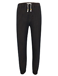 cheap -Men's Mid Rise Stretchy Harem Pants,Vintage Solid Polyester Fall