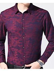 Masculino Camisa Social Casual Vintage Outono,Estampado Outros Colarinho de Camisa Manga Comprida Média