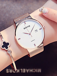 cheap -Women's Unisex Simulated Diamond Watch Wrist watch Fashion Watch Japanese Quartz Calendar / date / day Stainless Steel Band Minimalist
