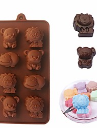 cheap -Hippo Bear Lion 3D Chocolate Silicone Mold DIY Ice Cube Soap Candy Mould Cake Decoration Baking Tools