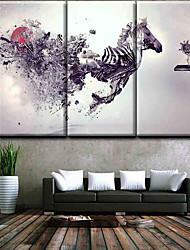 Недорогие -Наборы холстов Классика,3 панели Холст С картинкой Декор стены Украшение дома