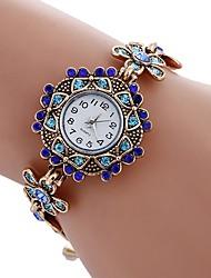 preiswerte -NAVIFORCE Damen Armbanduhr Armband-Uhr Modeuhr Chinesisch Quartz Imitation Diamant Legierung Band Retro Freizeit Böhmische Weiß Blau