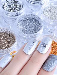 Недорогие -Мода Пайетки Пайетки Порошок блеска Гель для ногтей Как на фотографии Инструмент для ногтей Дизайн ногтей
