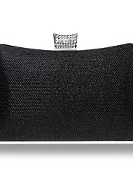 cheap -Women's Bags leatherette Evening Bag Buttons / Crystals Silver / Red / Royal Blue