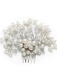billige -Krystal / Imiteret Perle / Legering Hair Combs med Akryl / Imiterede Perler 1pc Bryllup / Speciel Lejlighed Medaljon