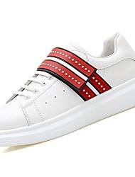 abordables -Homme Chaussures Gomme Printemps / Automne Confort Basket Blanc / Noir / blanc