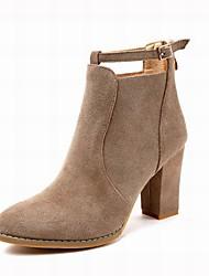 preiswerte -Damen Schuhe Wildleder Winter Modische Stiefel Stiefel Blockabsatz Spitze Zehe Booties / Stiefeletten Schnalle für Büro & Karriere