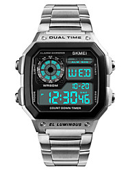 cheap -Men's Digital Digital Watch Wrist Watch Sport Watch Japanese Alarm Calendar / date / day Chronograph Water Resistant / Water Proof