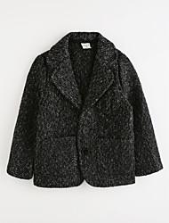 cheap -Girls' Solid Suit & Blazer,Cotton Black