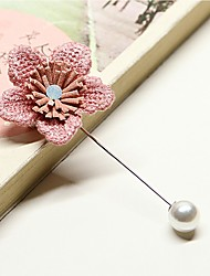 cheap -Women's Brooches Imitation Pearl Korean Alloy Flower Jewelry For Wedding Daily