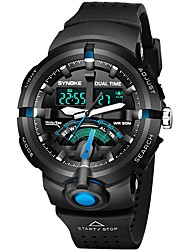 Недорогие -Муж. Спортивные часы Японский Кварцевый 30 m Повседневные часы PU Группа Аналого-цифровые На каждый день Черный / Зеленый / Серый - Черный / зеленый Зеленый Черный / Синий