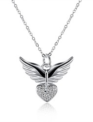 cheap -Men's Women's European Pendant Necklace , Silver Plated Pendant Necklace , European Daily