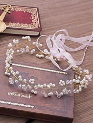 cheap -Crystal Imitation Pearl Tiaras Headbands Flowers with Crystal Faux Pearl 1pc Wedding Party / Evening Headpiece
