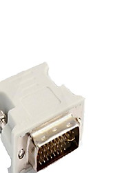 cheap -DVI Adapter, DVI to VGA Adapter Male - Female 720P Nickel-plated steel