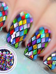 Недорогие -1pcs Пайетки Классика Высокое качество Повседневные Дизайн ногтей